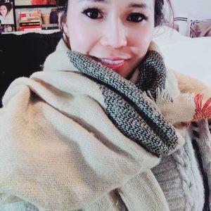 Cozy stylish winter scarf